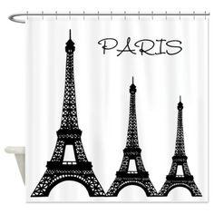 sold 1 Eiffel Tower Paris Shower Curtain