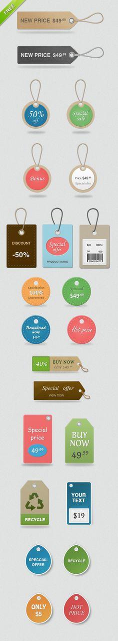 free price tags large Free Price Tags PSD