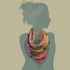 colourful leopard skinned / black pink / 100 x 100  silk cotton, scarf
