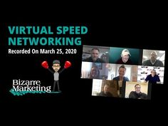 Virtual Speed Networking March 25 2020 March, Marketing, Youtube, Youtubers, Mac, Mars