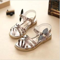 Girls' Shoes Leatherette Summer Fall Light Soles Comfort Flower Girl Shoes Sandals Walking Shoes Rhinestone for Dress Gold Gray Pink Flower Girl Shoes, Baby Girl Shoes, Kid Shoes, Girls Shoes, Flower Girls, Baby Girls, Gold Sandals, Black Sandals, Shoes Sandals