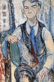Artwork by Leo Gestel, Self portrait, Made of Mixed media on paper