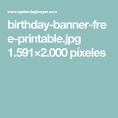 Free Printables, Banner, Party, Banner Stands, Free Printable, Banners
