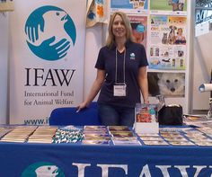 One of the IFAW staff smiles for the camera during the NEC Education Show.