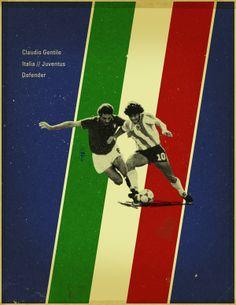 Famous Footballers 3 by Jon Rogers, via Behance