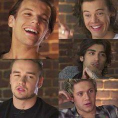 One Direction  OMG Zayn's hair! but Niall omfg God damn