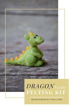 Dragon Needle Felting kit designed by Fiber artist Teresa Perleberg of Bear Creek Felting.