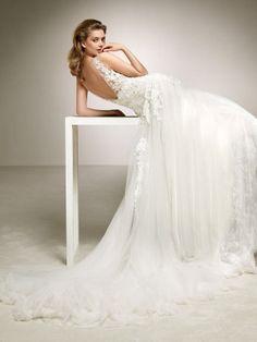 flared wedding dress with beading Scarlett, Mademoiselle, Dream Dress, Formal Dresses, Wedding Dresses, Marie, One Shoulder Wedding Dress, Wedding Day, Clothes