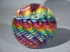 Marbles: Hand Made Art Glass James Alloway Dichroic Vortex1 Marble