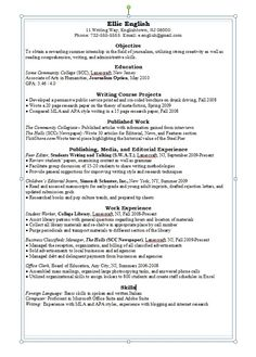 english major resume examples - Professional Nursing Resume Template