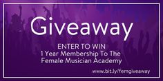 Female Musician Academy Holiday Giveaway