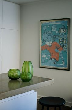 Amazing colour - Round Cut Glass - Fern
