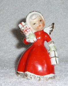 Vintage JAPAN Christmas1950s NORCREST Spaghetti Angel Bell by crazy4me