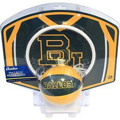 Baylor Bears Mini Basketball Hoop Set // Great gift for a Lady Bears or Men's Basketball fan!