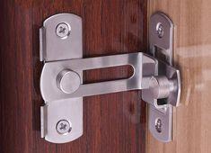 Accessoires Adapt/és /à Diverses Portes En Bois dUne /Épaisseur De 3,5 /à 4,5 cm Serrures Quincaillerie de Porte en Bois En Aluminium Avec Serrure De Porte Int/érieure En Aluminium Massif