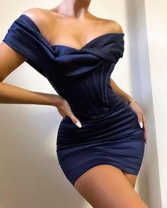 Satin Dresses, Ball Dresses, Elegant Dresses, Cute Dresses, Evening Dresses, Short Dresses, Satin Mini Dress, Cheap Cocktail Dresses, Blue Cocktail Dress