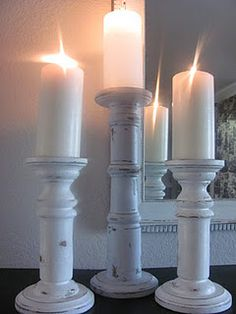 Homemade candle holders tutorial