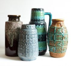 Market Oct. 2014 - Fat Lava Glass Ceramic, Ceramic Pottery, Pottery Art, Pottery World, Earthship Home, Vintage Hawaii, Vase, Pattern And Decoration, Vintage Pottery