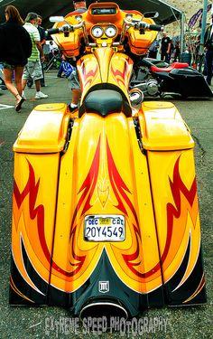Laughlin River Run 2015 - Urban Bagger Mag& & Bagg… Custom Baggers, Custom Harleys, Custom Motorcycles, Custom Motorcycle Parts, Bagger Motorcycle, Custom Street Bikes, Custom Bikes, Honda Fury, American Motorcycles