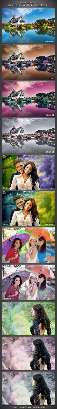 Inverted Romantic Tone Photo Effect Action
