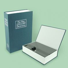 Keep everything safe in this metal safe box disguised as a a book.From Clover Fields