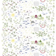 The Lillan fabric was designed by Louise Videlyck for the Swedish brand Arvidssons Textil. The pattern was inspired by the ballads written by Evert Taube and depicts the Swedish summer in its most beautiful facets. The fabic is great for cushion covers, curtains or table cloths.