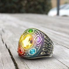 One ring that can harness the power of the six #InfinityStones. Shop the link in bio and @thesuperherostuff. #Marvel #InfinityWar #StyledByMarvel #Thanos