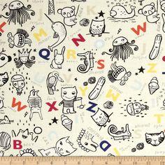 Dear Stella Wild Alphabet & Animals Cream