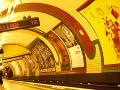 size: Photographic Print: Lights and Advertisements in London Underground Train Station : Transportation London Underground Train, Royal Gorge, Electric Train, Aesthetic Grunge, Train Station, Jukebox, Find Art, Transportation, Advertising