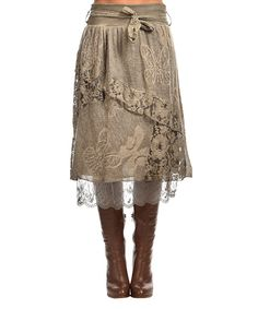 Look at this Charlotte&Louis Beige Claudia Skirt on #zulily today!