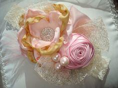 Baby Flower Headbands Infant Headband Pink by lepetitejardin, $24.95