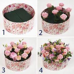 New Ideas For Flowers Gift Bouquet Floral Arrangements Florists Flower Crafts, Diy Flowers, Flower Decorations, Paper Flowers, Wedding Flowers, Balloon Flowers, Floral Flowers, Flower Box Gift, Flower Boxes