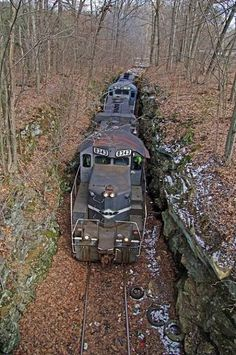 All these photographs of abandoned places are so vivid as to look almost fake, but the strangeness of the real world is fathomless. (Ghost trains abandoned)