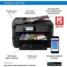 Epson Workforce All-In-One Inkjet Printer for sale online E 500, Multifunction Printer, Epson Ink, Specialty Paper, Inkjet Printer, Wifi, All In One, Ebay, Things To Sell