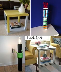 Ikea Hack - love that. Maybe this is the way to pimp-out my boring living room table