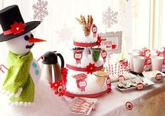 Love this hot cocoa bar!