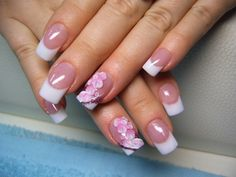 Baseball enough pocket money to buy professional nail art supplies? You do not need nail art tools and desperate so, girls. 5 Nail Art Trends: The Return O Flower Nail Designs, Pink Nail Designs, Acrylic Nail Designs, Classy Nail Designs, Pretty Nail Designs, Simple Designs, Floral Nail Art, White Nail Art, Beautiful Nail Art