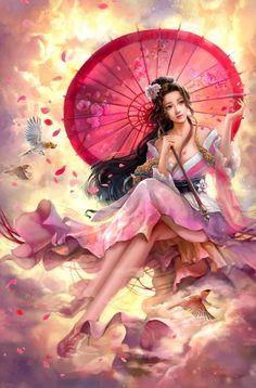 Like Drawing Image Fantasy of forms the Face Book Fantasy Images, Fantasy Women, Fantasy Girl, Fantasy Artwork, Bild Tattoos, Art Japonais, Beautiful Fantasy Art, Fantasy Warrior, Art Graphique