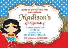 Wonder Woman Superhero Birthday Party by PrettyPaperPixels on Etsy