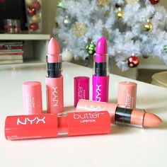 You make our Butter Lipsticks look good @thatsheart  get ready for these puppies to be available in January of 2014! They are in select @ultabeauty retailers for now. #nyxcosmetics #butterlipstick #lips #thatsheart - @nyxcosmetics- #webstagram