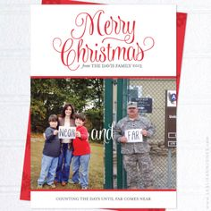 Custom Design: Near and Far Military Family Christmas Cards from Leslie Ann Jones | Faith + Life + Design (http://leslieannjones.com)