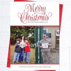 Custom Design: Near and Far Military Family Christmas Cards from Leslie Ann Jones   Faith + Life + Design (http://leslieannjones.com)