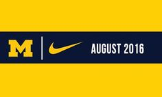 Starting in August, Nike will now be Michigan's official apparel supplier. Just did it. #GoBlue University Of Michigan Basketball, Colleges In Michigan, Michigan Athletics, University Of Miami Hurricanes, Michigan Wolverines Football, Packers Football, Jackson Michigan, Michigan Go Blue, Just Do It