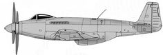 """In June 1943, Rolls-Royce proposed to re-engine the Mustang with a Griffon 65, although the resultant """"Flying Test Bed"""" (F.T.B.) would involve a dramatic redesign. Three surplus Mustang I airframes were allotted by the Ministry of Air Production and were dismantled in order to provide the major components for a mid-amidships installation of the more powerful Griffon engine, somewhat like the V-1710 Allison installation in both the American Bell P-39 Airacobra and Bell P-63 Kingcobra."""