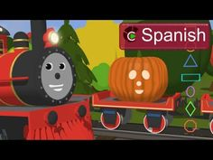 Learn Shapes (SPANISH) - Conoce las formas geométricas y esculpe calabazas con Shawn el Tren - YouTube