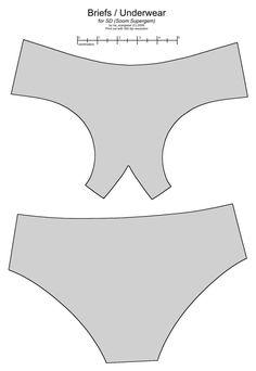 SD BJD (Soom Supergem) underwear by scargeear
