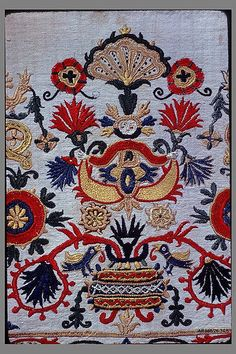 *GREECE ~ Part of a dress border century Greek Islands, Crete Silk on linen Embroidery Patterns Free, Embroidery Art, Textiles, Greek Traditional Dress, Folk Print, Greek Design, Cross Stitch Bird, Folk Fashion, Embroidery Techniques