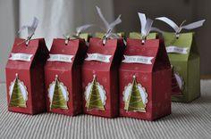 BeStempelt - zu zweit!: Mini-Milchkarton mit Christbaum