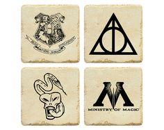Harry Potter Coasters by jb2designs on Etsy