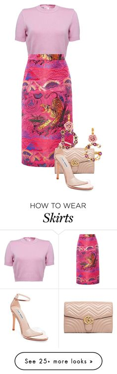 """""""Long skirt"""" by catmlnguyen on Polyvore featuring Gucci, Steve Madden and Dolce&Gabbana"""